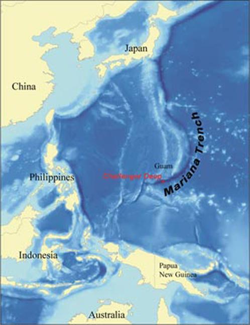 Марианская впадина расположена в Тихом океане